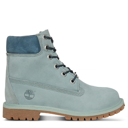 Junior 6-inch Waterproof Boot Light Green | Timberland