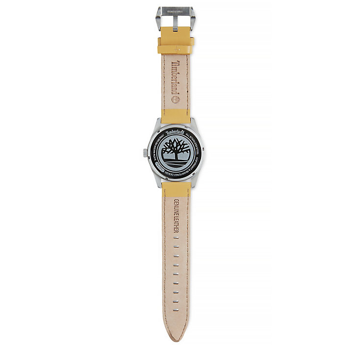 Middleton Armbanduhr für Herren in Perlweiß/Gelb-