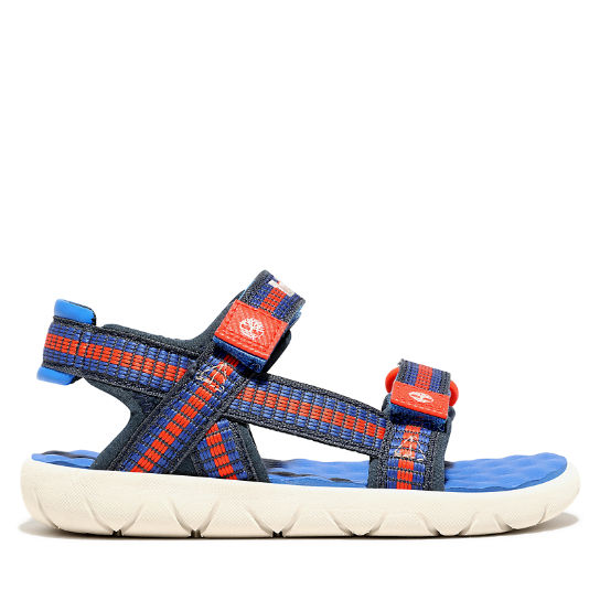 Perkins Row Sandal for Youth in Blue | Timberland