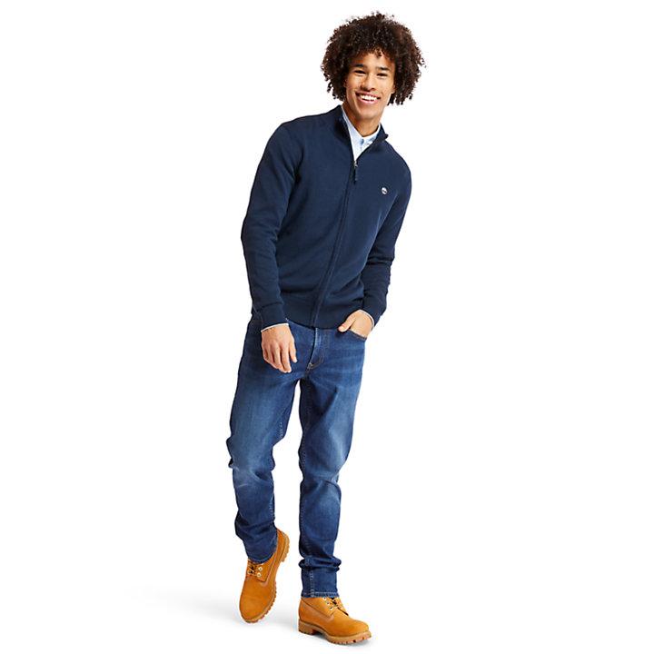 Williams River Full Zip Sweater voor Heren in marineblauw-