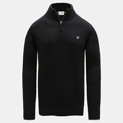 Williams+River+Half-Zip+Sweater+for+Men+in+Black