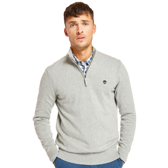Williams River Half-Zip Sweater for Men in Grey | Timberland