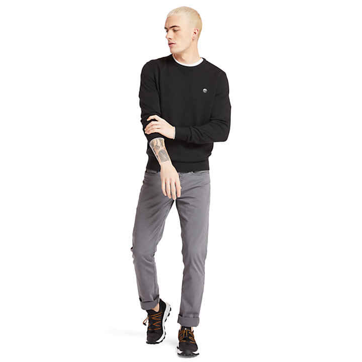 Williams River Organic Cotton Sweater for Men in Black-