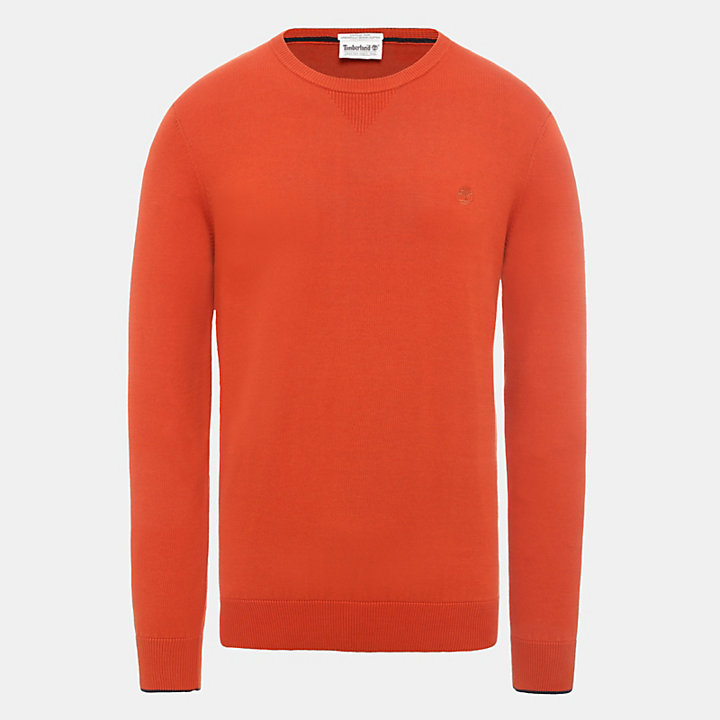 Williams River Organic Cotton Sweater for Men in Red-