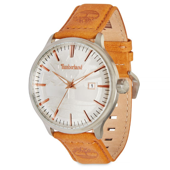 Edgemont Watch for Men in Silver/Tan | Timberland