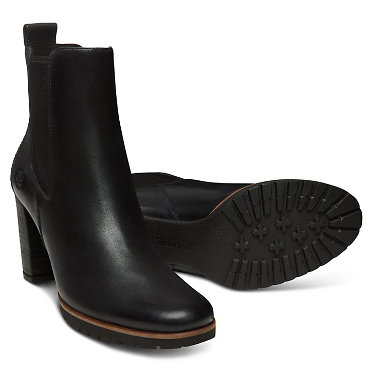 Leslie Anne Chelsea Boot for Women in Black-