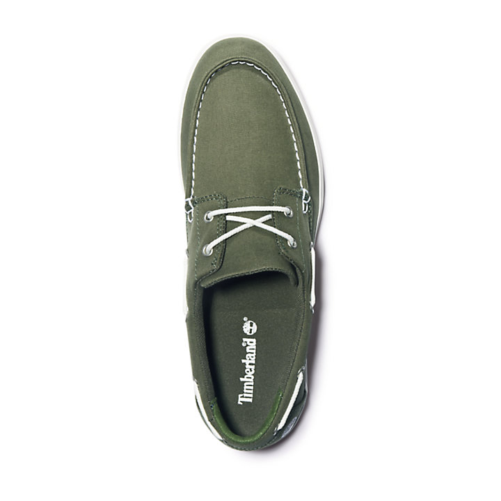 Union Wharf Boat Shoe for Men in Green-