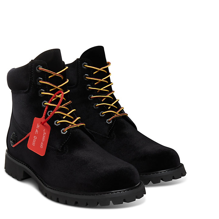 Timberland® x Off White 6-Inch Boot voor Heren in Zwart-