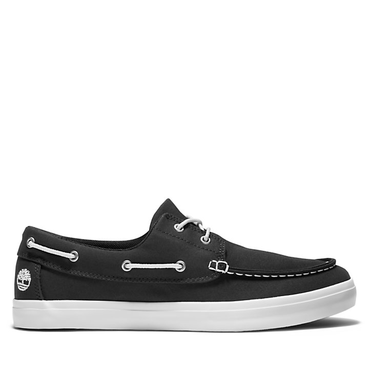 Union Wharf Boat Shoe for Men in Black-