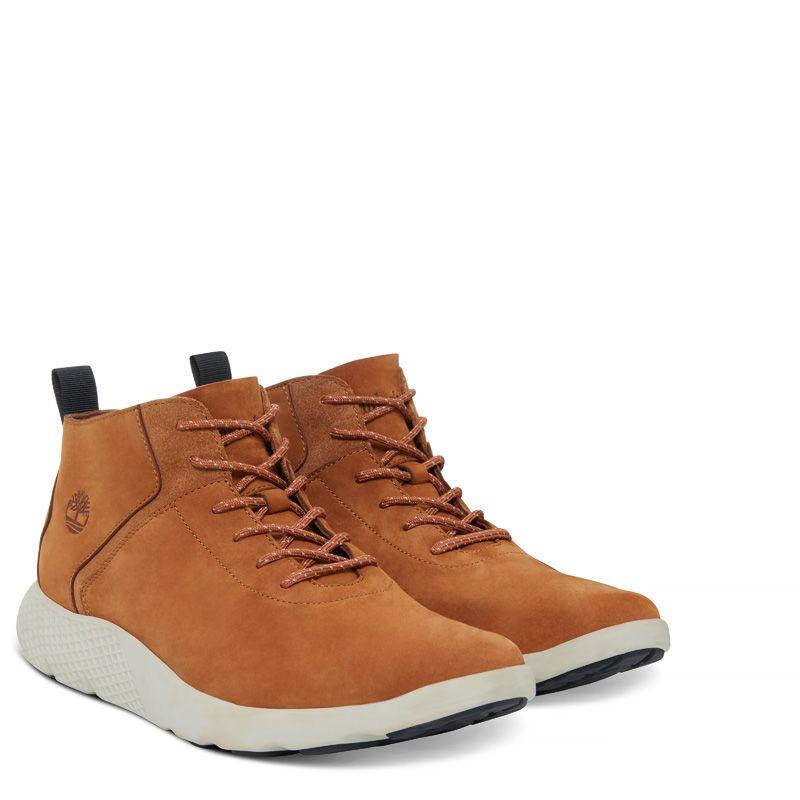 Timberland - flyroam leather trainer gelbbraun - 2