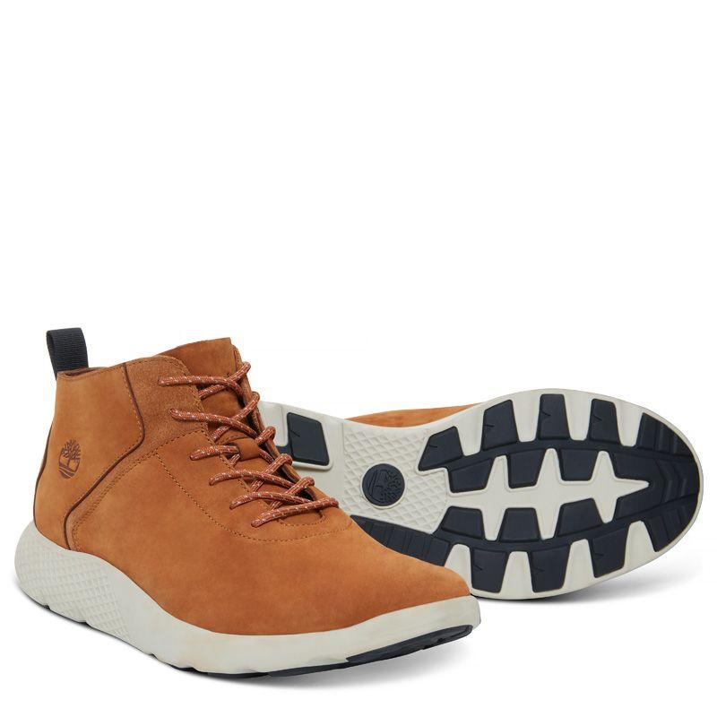 Timberland - flyroam leather trainer gelbbraun - 3