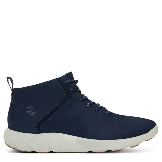 Herren Flyroam Leather Trainer Navyblau | Timberland