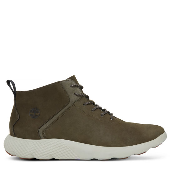 Flyroam Leather Trainer Militair Grijs Heren | Timberland