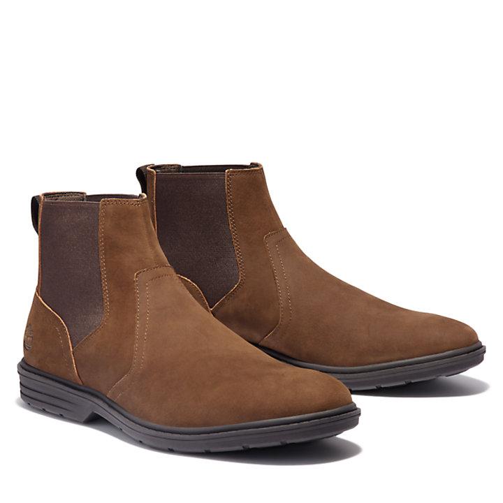 Sawyer Lane Chelsea Boot for Men in Dark Brown-