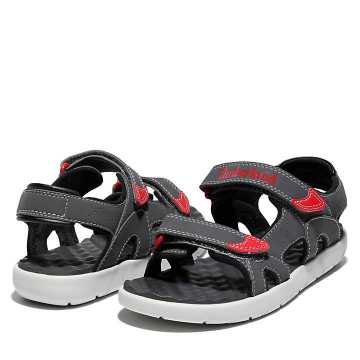 Sandalo da Bambino (dal 35,5 al 40) Perkins Row in grigio/rosa-
