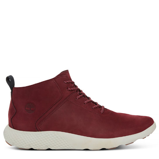 Herren Flyroam Leather Trainer Dunkelweinrot | Timberland