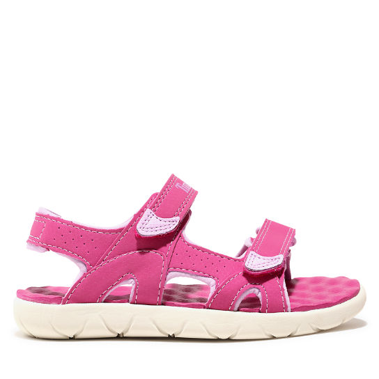 Perkins Row Strappy Sandal for Toddler in Pink | Timberland