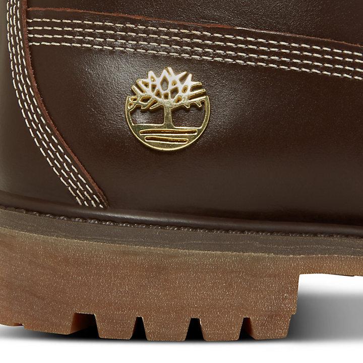 Herren 6-Inch Boot Braun mit Monogrammen-