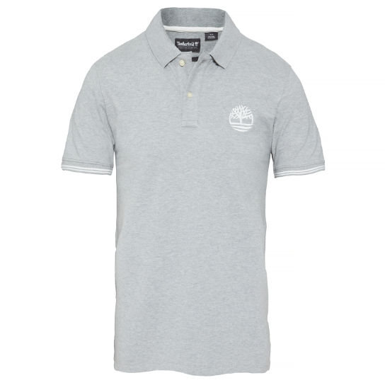 Men's Millers River Stretch Polo Shirt Grey | Timberland