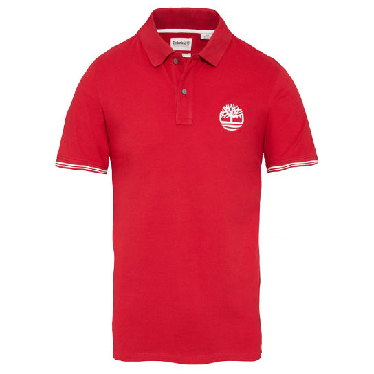Millers River Stretch Polo Shirt Rood Heren | Timberland