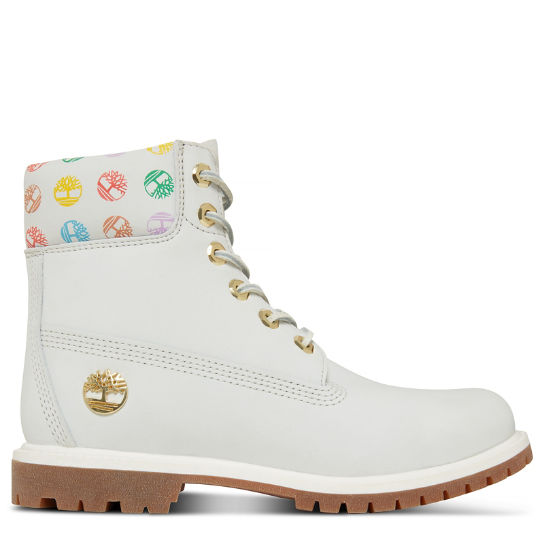 Women's 6-inch Boot Monogram White | Timberland