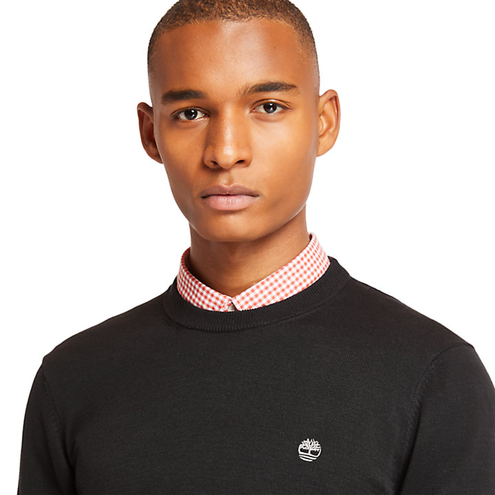Williams River Cotton Sweater for Men in Black-