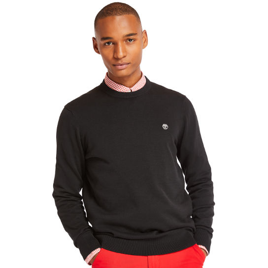 Williams River Cotton Sweater for Men in Black | Timberland