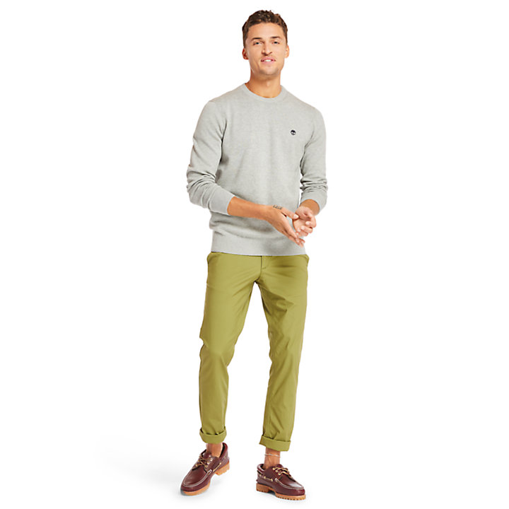 Williams River Cotton Pullover Herren in Grau-