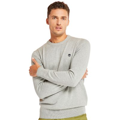 Williams+River+Cotton+Sweater+for+Men+in+Grey