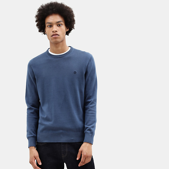 Williams River Cotton Sweater for Men in Blue-