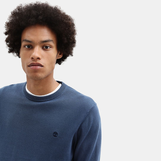 Williams River Cotton Sweater for Men in Blue | Timberland