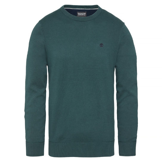 Williams River Crew Neck Top verde hombre | Timberland