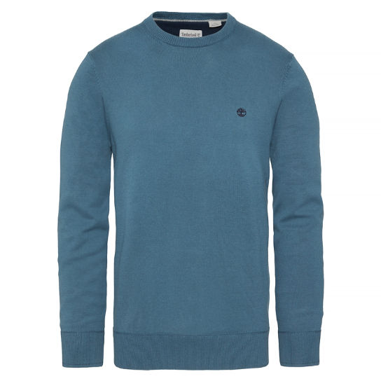 Williams River Crew Neck Top Homme bleu | Timberland