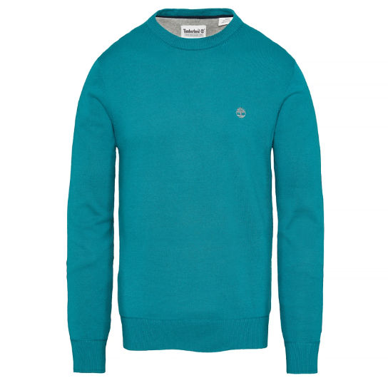 Williams River Sweater Hombre Azul Verdoso | Timberland