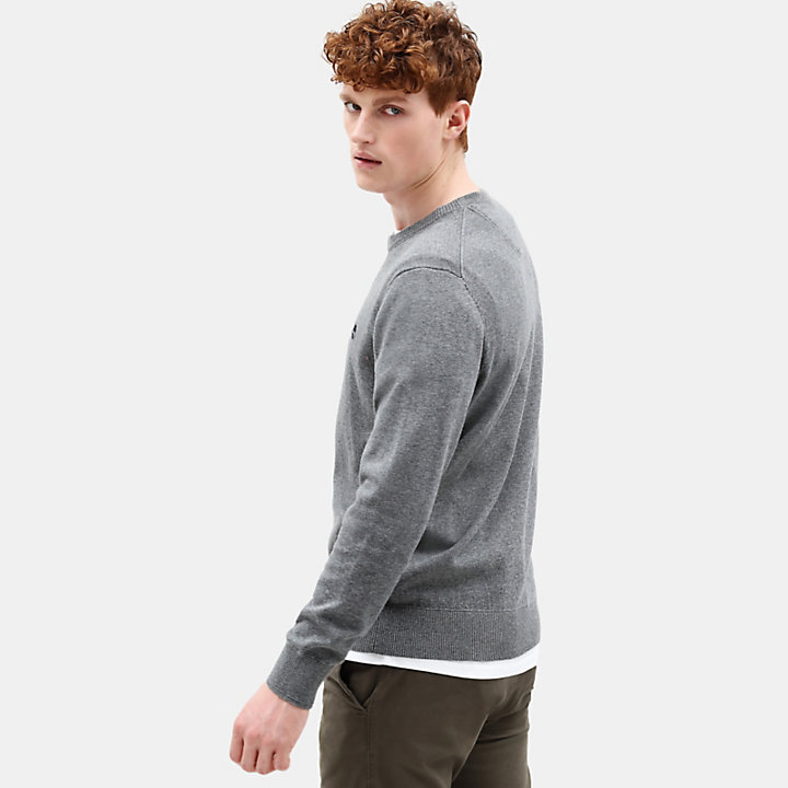 Williams River Cotton Sweater for Men in Dark Grey-
