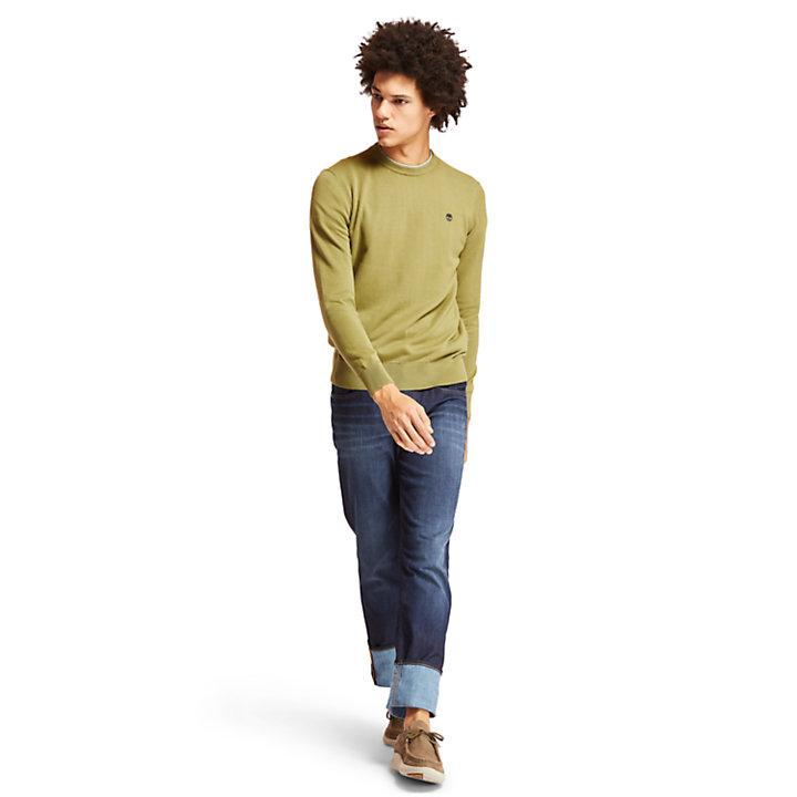 Jersey de Algodón Williams River para Hombre en verde-