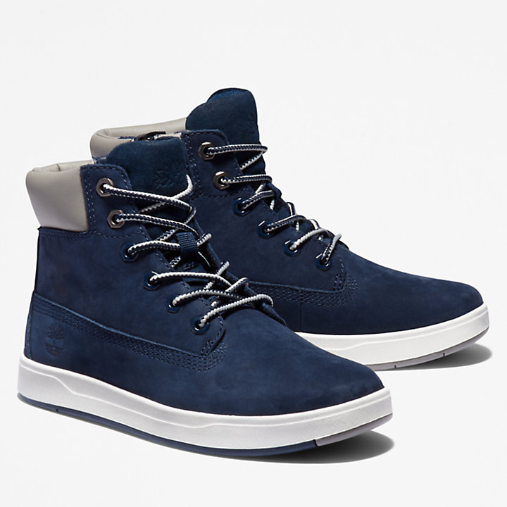 Davis Square 6 Inch Side-zip Boot for Men in Navy-