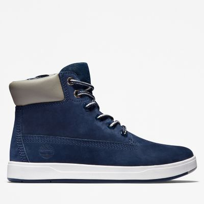 Davis+Square+6+Inch+Side-Zip+Boot+voor+heren+in+marineblauw