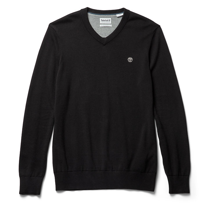 Williams River V-Neck Sweater voor Heren in zwart-