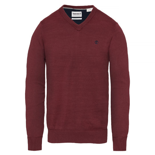 Herren Williams River Sweater Tiefrot | Timberland