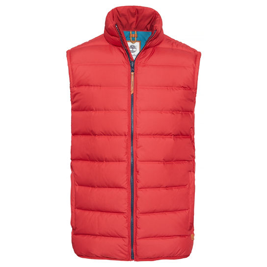 Men's Bear Head Down Vest Chilli Red | Timberland