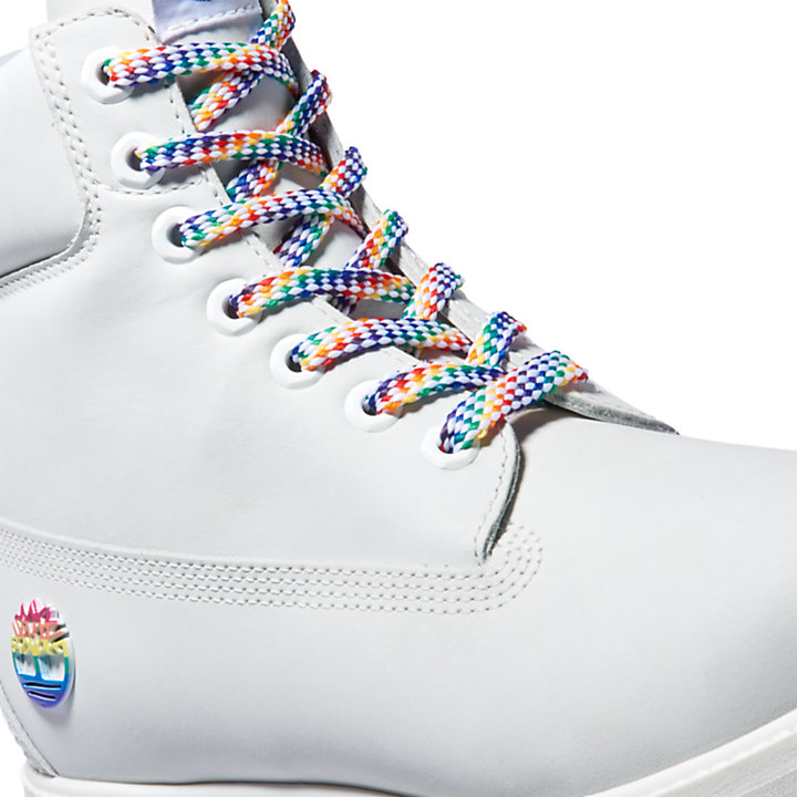 Limited Edition Pride 6 Inch Boot for Men in White-