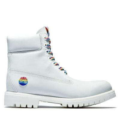 Limited+Edition+Pride+6-Inch-Herrenstiefel+in+Wei%C3%9F