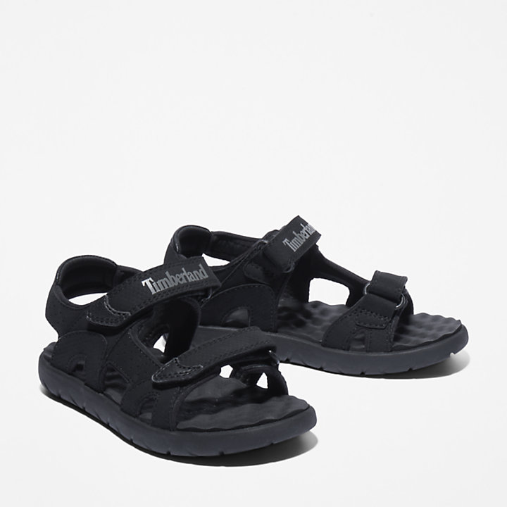Perkins Row 2-Strap Sandal for Youth in Black-