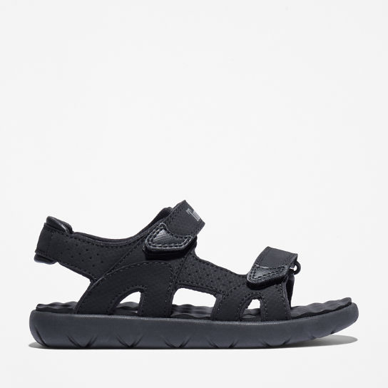 Perkins Row 2-Strap Sandal for Youth in Black | Timberland