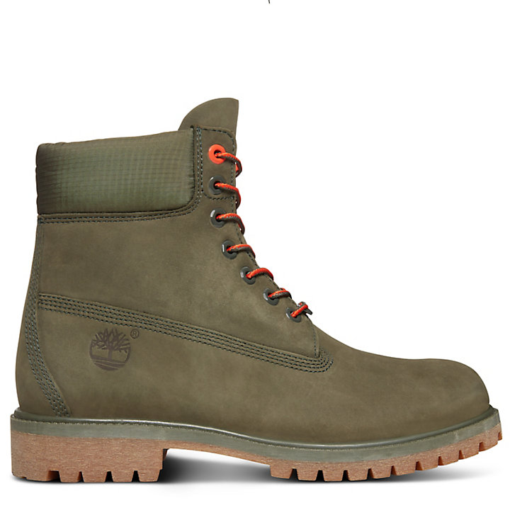 Premium 6 Inch Boot for Men in Dark Green-