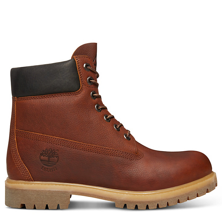 timberland brown leather bottes