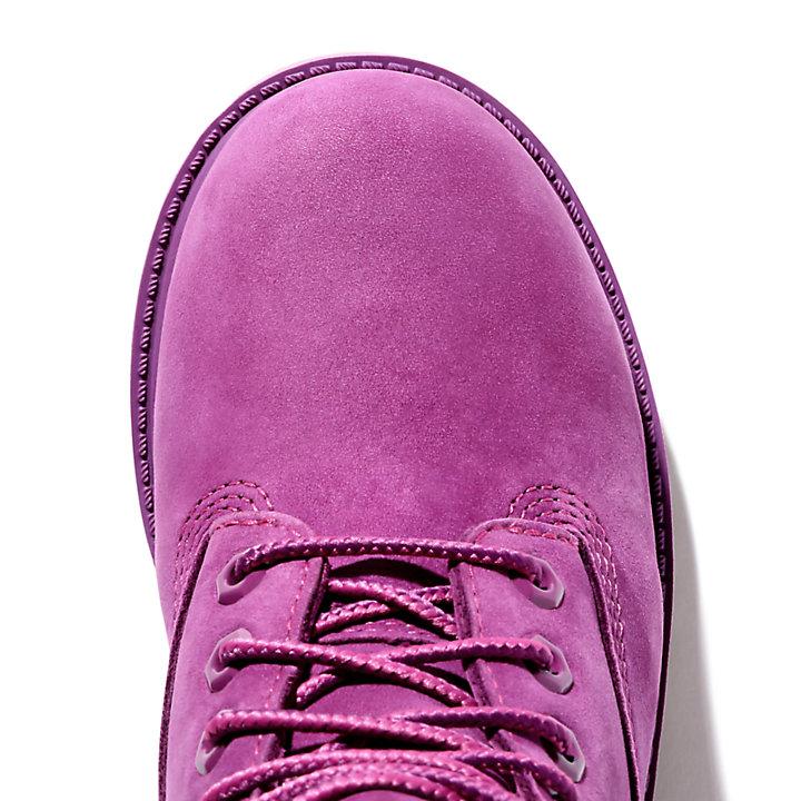 Premium 6-Inch-Stiefel für Kinder in Burgunderrot-