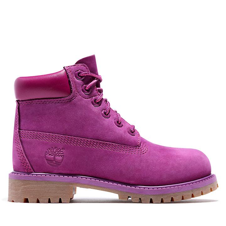 Bota 6 inch Premium para Niño (de 30,5 a 35) en rosa-