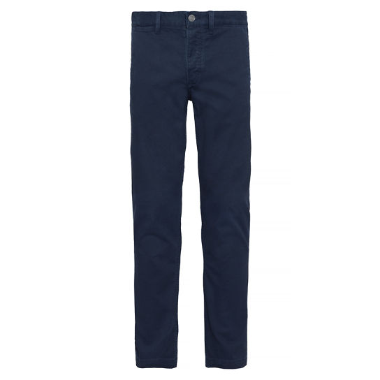 Men's Squam Lake Textured Chinos Blue | Timberland